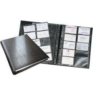 Durable 2409 01 240901 Visifix Centium A4 Visitenkarten Ringbuch A4 20 Hüllen Für 400 Karten 90 X 57 Mm Ringmechanik Folie Matt Schwarz