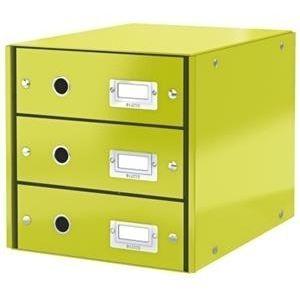 Leitz Schubladenbox Schubladenset 3 Schubladen 6048 Click /& Store ORANGE